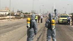 """بالصور في الشرقية.. تسرب """"مواد خطرة"""" من أحد المصانع  و""""الدفاع المدني"""" يتدخل!!"""