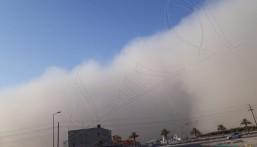 #عاجل || شاهد.. موجات الغبار تصل الأحساء !!
