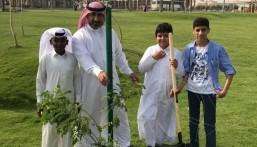 """""""الجبيل"""" تغرس 1500 شجرة وشتلة ضمن مبادرة """"نزرعها لننعم بها"""""""
