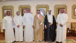 """الأمير """"بدر بن جلوي"""" يستقبل إدارة """"تقنية الأحساء"""" و يطّلع على خططها وإنجازاتها"""