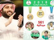 """""""آل الشيخ"""" يستعرض إنجازات 2018 الرياضية بصورة """"تضايق كثيرين"""""""