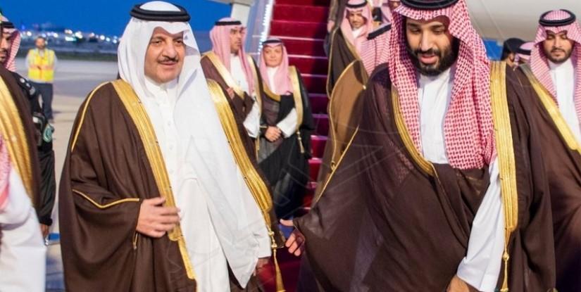 """بالصور.. """"الشرقية"""" تزهو فرحًا بوصول """"ولي العهد"""" .. و """"سعود بن نايف"""" على رأس مستقبليه"""