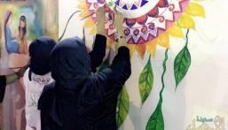 """الأحساء تحتفي بلوحة المحبة والسلام: طولها """"15"""" مترًا و """"50"""" فنان لرسمها !!"""