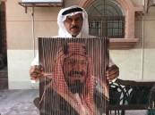 """شاهد .. سعودي يُبهر الجميع بلوحة مُلفتة  لـ""""ولاة الأمر"""" في الأحساء !!"""
