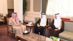 """""""محافظ الأحساء"""" يستقبل مدير فرع """"مركز الملك عبدالعزيز"""" للحوار الوطني"""