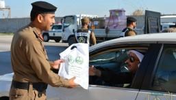"""بالصور .. القوة الخاصة لأمن الطرق بالمنطقة الشرقية تطلق الحملة التوعوية """"أمنكم وسلامتكم هدفنا"""""""