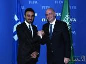 """بالصور .. رئيس هيئة الرياضة يلتقي بـ """"إنفانتينيو"""" رئيس الاتحاد الدولي"""