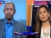 شاهد بالفيديو.. صحفي سوداني ينام على الهواء !!