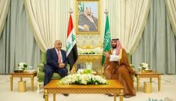 """جلسة مباحثات تجمع """"ولي العهد"""" بـ""""رئيس وزراء العراق"""" لتعزيز العلاقات بين البلدَيْن"""