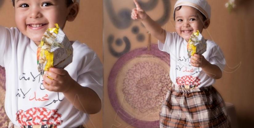 """الغبار و زخات المطر لم تمنعهم .. شاهد: أطفال الأحساء يحتفون بـ""""القرقيعان"""""""