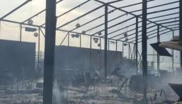 بالفيديو .. الدفاع المدني يسيطر على حريق هائل اندلع في خيمة رمضانية بالخبر