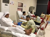 """""""تبرعك بالدم.. يمنح حياة"""".. حملة طارئة لمستشفى الملك فهد تجمع """"138"""" متبرعًا"""