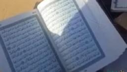 """بالفيديو… مصاحف ممزقة وملقاة على الأرض في المدينة .. و""""الشؤون الإسلامية"""" تتوعد المتسبب"""