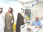 """""""الحجي"""" يعايد المنومين بمركز الأمير سلطان للقلب"""