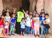 """بالصور… رحلة لـ""""جبل القارة"""" و """"المتحف الوطني"""" لطلاب نادي حي رؤية بثانوية المبرز الأولى"""
