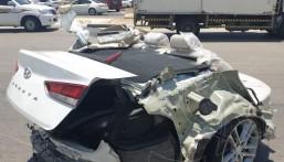 في الأحساء … حادث كارثي يشطر سيارة لنصفين ولن تتوقع ماذا حدث لقائدها !!