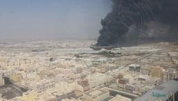 """إصابة 5 في حريق قطار الحرمين .. و """"مرور جدة"""" يحدد طرقًا بديلة"""
