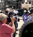 """صور .. """"أرامكو"""" تنظِّم جولة لـ80 إعلاميًّا دوليًّا لزيارة منشآت """"بقيق وخريص"""""""