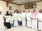 """بالصور.. """"العمير"""" يُكرّم الفائزين بجائزة """"وزير الصحة للرواد"""""""