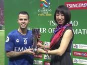 الإيطالي جوفينكو يفوز بجائزة رجل مباراة الهلال وأوراوا في نهائي آسيا..