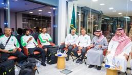 سمو رئيس هيئة الرياضة يستقبل بعثة المنتخب السعودي الأول