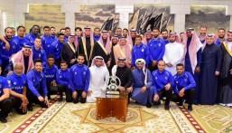 سمو أمير الرياض ونائبه يستقبلون رئيس مجلس إدارة نادي الهلال ولاعبي الفريق الأول