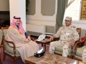 """محافظ الأحساء يستقبل قائد لواء الملك عبدالله الآلي بالحرس الوطني """"المكلف"""""""