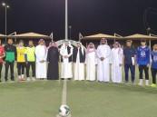 """بالصور… """"العيسى"""" يُدشن دوري أبطال المدارس لكرة القدم بتعليم الأحساء"""
