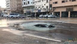 """الأمانة: خط مياه أدى إلى سقوط السيارة """"المنكوبة"""" فجر اليوم بـ""""الشارع الملكي"""""""