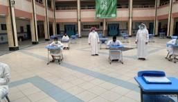 بالصور .. تعليم الأحساء: أكثر من 300 طالب وطالبة بالصف الثالث الثانوي يؤدون اختباراتهم البديلة