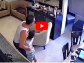 فيديو الأب والخادمة .. شاهد ماذا فعلا لحظة انفجار بيروت!