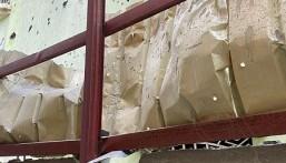 بالصور … سقوط مقذوف حوثي على منزلين في جازان