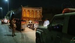 تفاعلاً مع بلاغ مواطن .. المرور يضبط قائد شاحنة يقود بتهور وسرعة عالية في الجبيل