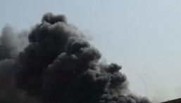 """شاهد … حريق محدود بجوار مستشفى الملك فيصل بالأحساء و""""التجمع الصحي"""" يُصدر بيان رسمي"""