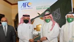 """""""المملكة"""" تُسلم ملفها الرسمي للاتحاد الآسيوي لكرة القدم لاستضافة بطولة كأس آسيا 2027 م"""