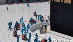 أكثر من 10 مليون لتر مطهرات تُعقم المسجد الحرام ومرافقه (إنفوجراف)