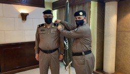 """مدير شرطة الأحساء يُقلد """"الشهري"""" رتبته الجديدة"""
