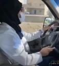 شاهد .. مقطع متداول لأخصائية سعودية تقود سيارة إسعاف لنقل حالة ولادة للمستشفى