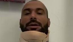 """شاهد .. يزيد الراجحي يكشف عن حجم إصابته في """"رالي الشرقية"""" ويطالب بالدعاء للشمري"""