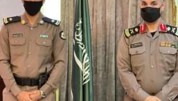 """مدير """"شرطة الأحساء"""" يُقلّد """"الدهيش"""" رتبته الجديدة"""