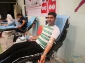 """""""٢٨٦"""" متبرعاً ومتبرعة في حملة التبرع بالدم بمركز النشاط بالمنيزلة"""