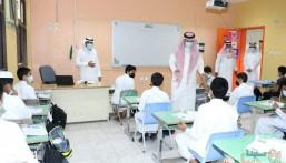 مدير تعليم الأحساء يطمئن ميدانياً على العودة الكاملة لطلاب المتوسطة والثانوية ( صور)