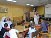 مدير عام الجمعية الخيرية لتحفيظ القران الكريم بالأحساء بالغنيم في زيارة لجامع المقهوي