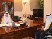 """الأمير بدر بن جلوي يستقبل مدير شركة الاتصالات السعودية الجديد """" يوسف بودي """""""