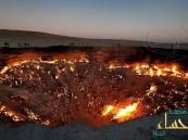 بالصور.. حفرة نارية مستعرة منذ 40 عاماً بقلب الصحراء