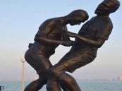 """قطر.. إزالة تمثال """"نطحة زيدان"""" بعد الاعتراضات عليه ووصفه بـ""""الأصنام"""" (صور)"""