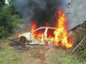 يحرق سيارة كي يتدفأ