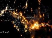 """""""ناسا """" تنشر صورة بانورامية لجنوب غرب المملكة من الفضاء"""