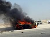 تفحم قائد سيارة في حادث مروع على طريق أبو حدرية الخفجي (صورة)