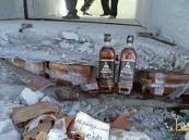 بالصور جمرك البطحاء يُحبط تهريب 19 ألف زجاجة خمر